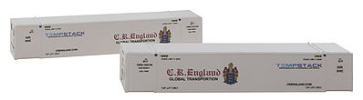 Con-Cor 53 Container CR England #2 (2) N Scale Model Train Freight Car Load #453204