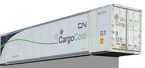 Con-Cor 53 Container Canadian National Cargo (2) N Scale Model Train Freight Car #453207