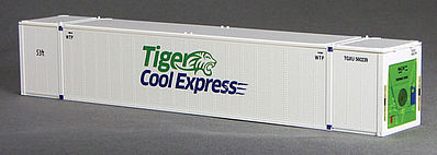 Con-Cor 53 Reefer Container Tiger #1 N Scale Model Train Freight Car Load #453213