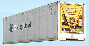 Con-Cor 45 Reefer Container Hapag Lloyd HO Scale Model Train Freight Car #483651