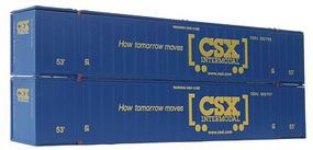 Con-Cor 53' Sheet/Post Rivet Side Container CSX Containers Set #1 HO Scale Model Freight Car #488006