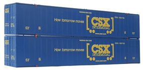 Con-Cor 53' Sheet/Post Rivet Side Container CSX Containers Set #2 HO Scale Model Freight Car #488007