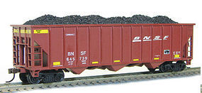 Con-Cor 100-Ton 3-Bay Hopper with Load BNSF Railway Set #3 HO Scale Model Train Freight Car #517
