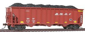 Con-Cor 100-Ton 3-Bay Hopper with Load BNSF Railway Set #4 HO Scale Model Train Freight Car #518