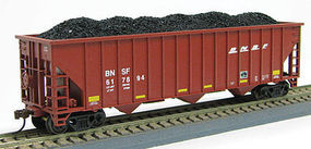 Con-Cor 100T 15 Panel Hop BNSF #3 HO Scale Model Train Freight Car #546