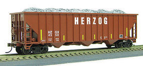 Con-Cor 100T 15 Panel Hop Herzog #1 HO Scale Model Train Freight Car #548