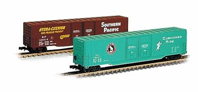 Con-Cor 60' Double Door Box Southern Pacific -- N Scale Model Train Freight Car -- #557001