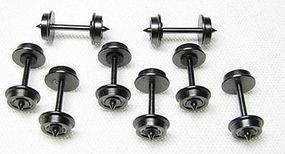 Con-Cor Brass Wheelsets - .560 Needlepoint Axles pkg(8) N Scale Model Train Trucks #56061