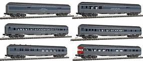 Con-Cor 1930s Heavyweight 6-Car Set Southern Pacific N Scale Model Train Passenger Set #580023