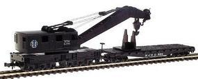 Con-Cor Crane & Boom Car Burlington Northern Santa Fe N Scale Model Train Freight Car #602011
