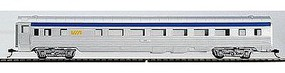 Con-Cor 85 Streamlined Coach Via Rail (silver & blue) HO Scale Model Train Passenger Car #70111