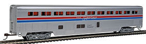 Con-Cor 85 Streamlined Superliner Amtrak Phase II Coach/Baggage HO Scale Model Passenger Car #821