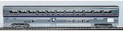 Con-Cor 85' Streamlined Superliner Amtrak Phase IV Sleeper -- HO Scale Model Train Passenger Car -- #833