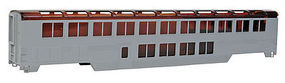 Con-Cor 85 Streamlined Superliner Undecorated Lounge/Cafe HO Scale Model Train Passenger Car #840