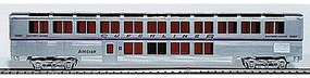 Con-Cor 85 Streamlined Superliner Amtrak Phase IV Lounge/Cafe HO Scale Model Train Passenger Car #843