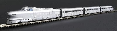 Con-Cor AeroTrain 3-Car Train-Only Set Standard DC Silver, Unlettered N Scale #8760