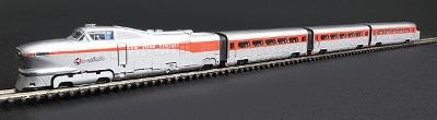 Con-Cor AeroTrain 3-Car Train-Only Set Standard DC NYC Great Lakes AeroTrain N Scale #8763