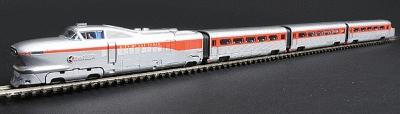 Con-Cor AeroTrain 3-Car Train-Only Set Standard DC Union Pacific Las Vegas 1957 N Scale #8764