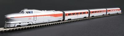 Con-Cor AeroTrain 3-Car Train-Only Set Standard DC Rock Island 1958-66 N Scale #8766
