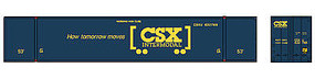 Con-Cor 53 Reefer Container CSX #2 HO Scale Model Train Freight Car #88007