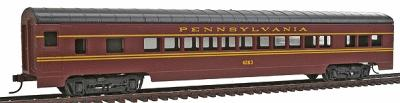 Con-Cor 72' Streamline Coach Pennsylvania Railroad -- HO Scale Model Train Passenger Car -- #905