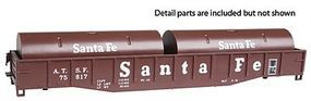 Con-Cor 54 Coil Car Santa Fe HO Scale Model Train Freight Car #9051