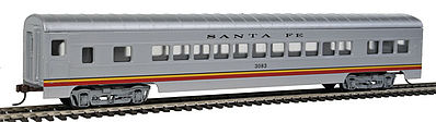 Con-Cor 72' Streamline Coach Santa Fe ''Valley Flyer'' -- HO Scale Model Train Passenger Car -- #910