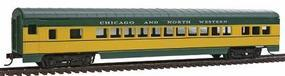 Con-Cor 72 Streamline Coach Chicago & North Western HO Scale Model Train Passenger Car #916