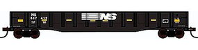 Con-Cor 54 Mill Gondola with Scrap Load Norfolk Southern HO Scale Model Freight Car #92046