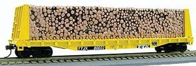 Con-Cor Pulpwood Flatcar with Load TTX HO Scale Model Freight Car #92061