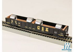 Con-Cor 54 Gondola with coils CSX HO Scale Model Train Freight Car #92103