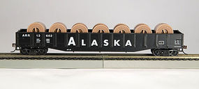 Con-Cor 54 Gondola with reels Alaska RR HO Scale Model Train Freight Car #92111