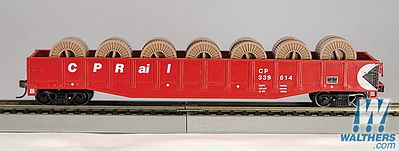 Con-Cor 54' Gondola with reels Canadian Pacific Rail -- HO Scale Model Train Freight Car -- #92115