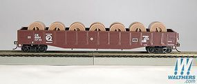 Con-Cor 54' Gondola with reels Conrail HO Scale Model Train Freight Car #92117