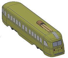 Con-Cor PCC Streetcar New Haven Model Train Diesel Locomotive HO Scale #93065