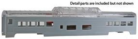 Con-Cor 72 Streamline Vista Dome Undecorated HO Scale Model Train Passenger Car #940