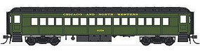 Con-Cor Heavyweight 65 Branchline Coach Chicago & North Western HO Scale Model Passenger Car #94202