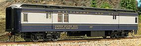 Con-Cor Heavyweight 65 Branchline Baggage/Railway Post Office HO Scale Model Passenger Car #94309