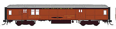 Con-Cor Heavyweight 65' Branchline Baggage-Mail Milwaukee Road -- HO Scale Model Passenger Car -- #94330