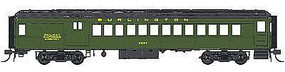 Con-Cor Heavyweight 65 Branchline Combine Burlington HO Scale Model Train Passenger Car #94356