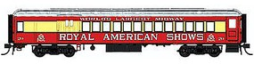 Con-Cor Heavyweight 65 Branchline Combine Royal American Shows HO Scale Model Passenger Car #94368