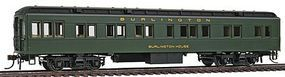 Con-Cor Heavyweight 65 Branchline Solarium-Observation Burlinton HO Scale Model Passenger Car #94406