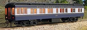Con-Cor Heavyweight 65 Solarium-Observation Baltimore & Ohio HO Scale Model Passenger Car #94409