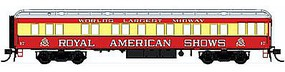 Con-Cor Heavyweight 65 Solarium-Observation Royal American Shows HO Scale Model Passenger Car #94418