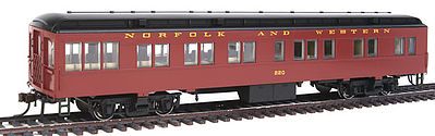 Con-Cor Solarium Norfolk & Western #220 Tuscan HO Scale Model Train Passenger Car #94432