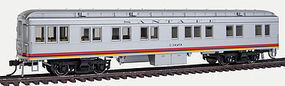Con-Cor 65 Heavyweight Solarium ATSF #2 HO Scale Model Train Passenger Car #95201