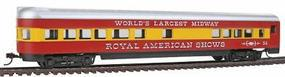Con-Cor 72 Streamline Observation Royal American Shows HO Scale Model Train Passenger Car #968