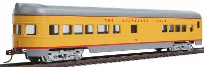 Con-Cor 72' Streamline Observation Milwaukee Road -- HO Scale Model Train Passenger Car -- #969