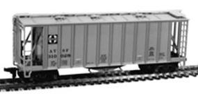 Con-Cor 40 Airslide Covered Hopper Santa Fe HO Scale Model Train Freight Car #9701