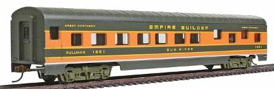 Con-Cor 72' Streamline Sleeper Great Northern ''Empire Builder'' -- HO Scale Model Passenger Car -- #983